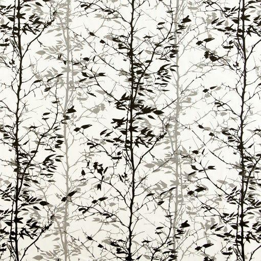 Halvpanama hvit m sort/grå gren
