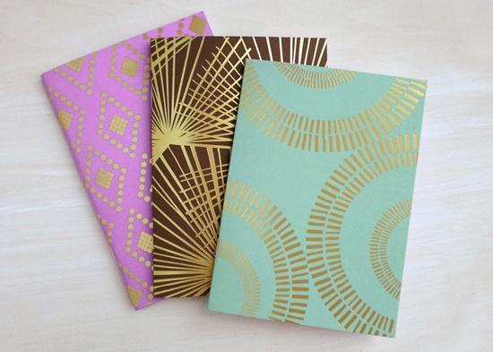fine day press: Colors Combos, Gold Foil, Journals Sets, Paper, Notebooks, Pocket Journals, Design, Foilstamp Pocket, Foil Stamps