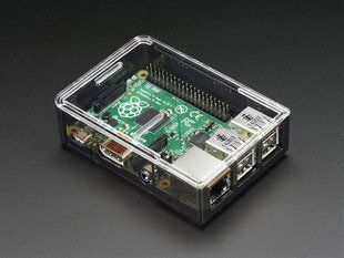 Adafruit Raspberry Pi B+ / Pi 2 / Pi 3 Case - Smoke Base - w/ Clear Top