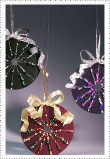 Recycle old CD's into colorful trendy ornaments. With a little paint, wire and beads, you can add a new look to the holiday season.