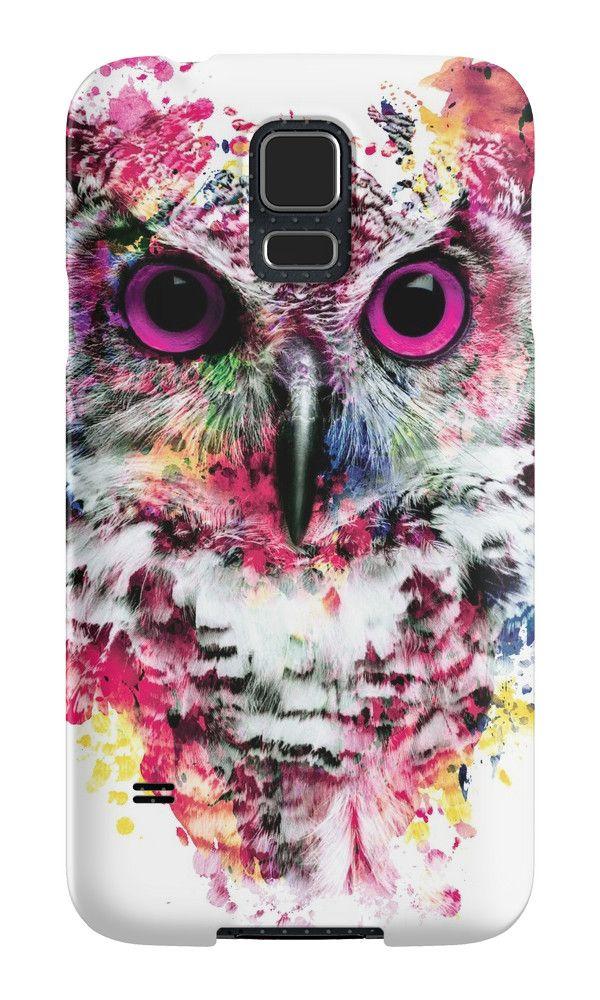 Owl by RIZA PEKER #digital #art #painting #tshirts #women #men #fashion #fashionblogger #artist #design #cool #creative #redbuble #samsung