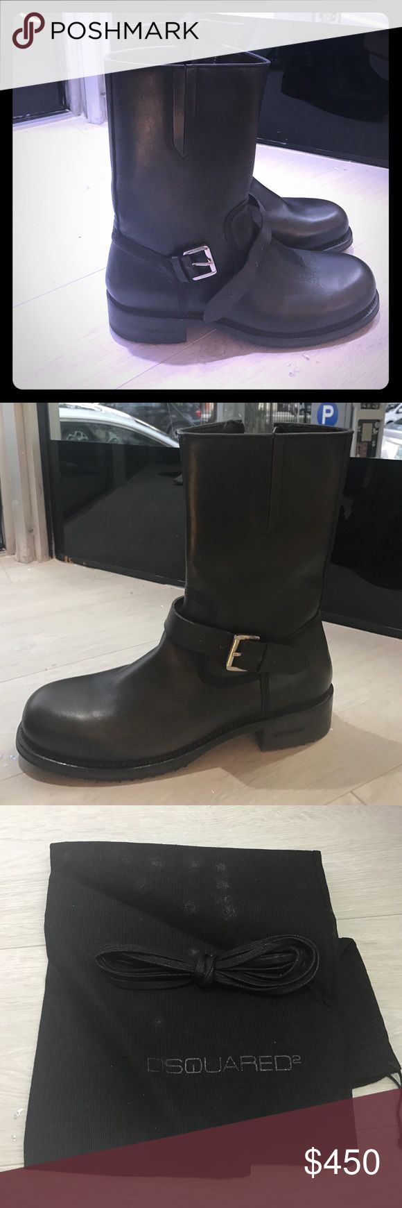 Dsquared2 Black army boots DSQUARED Shoes Combat & Moto Boots