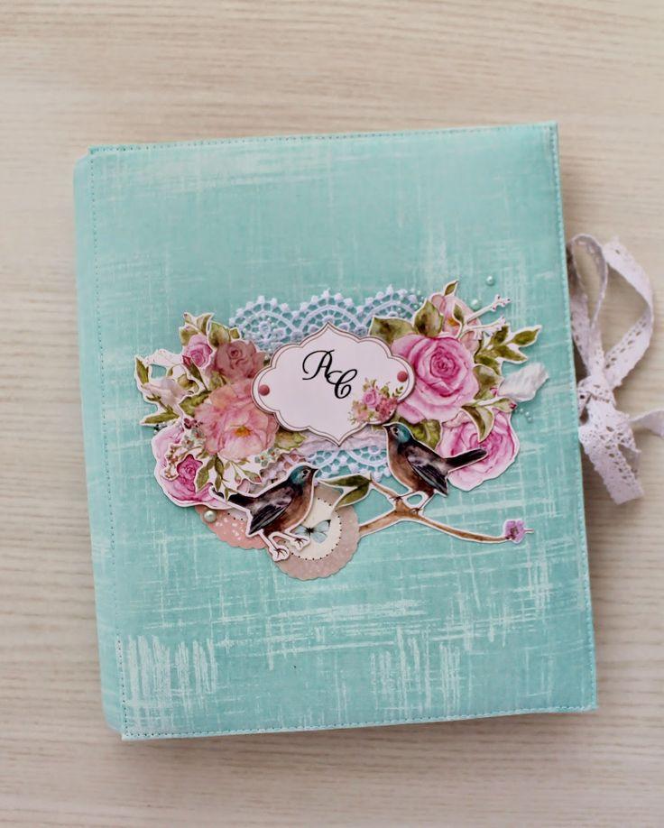 Hand Made by Olga Babich: Цветочный альбом на годовщину свадьбы