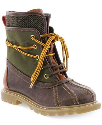 Tommy Hilfiger Boys' or Little Boys' Charles Duck Boots only $39 at Macy's! Your boy will have no problem taking on the cold with these amazing boots!