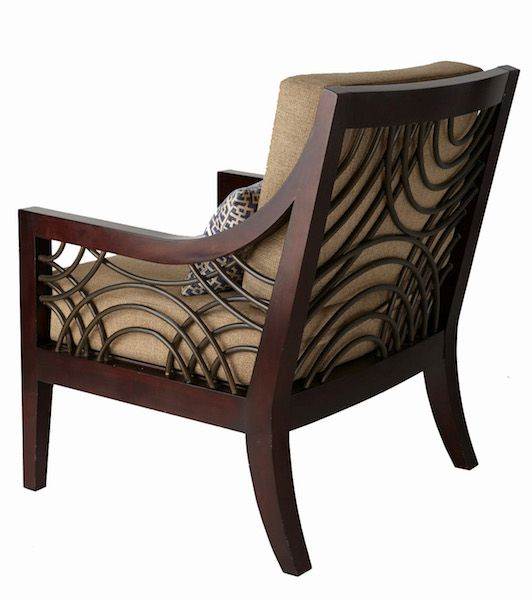 ROTTA ARMCHAIR Mahogany solid wood with rattan details on arms and back Size 650 x 750 x 900 mm