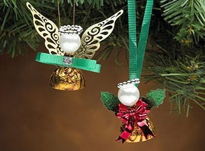 HERSHEY'S KISSES Angel Party Favors: Crafts Ideas, Christmas Crafts, Holidays Crafts, Kiss Angel, Parties Favors, Hershey Kiss, Angel Parties, Angel Ornaments, Christmas Ideas