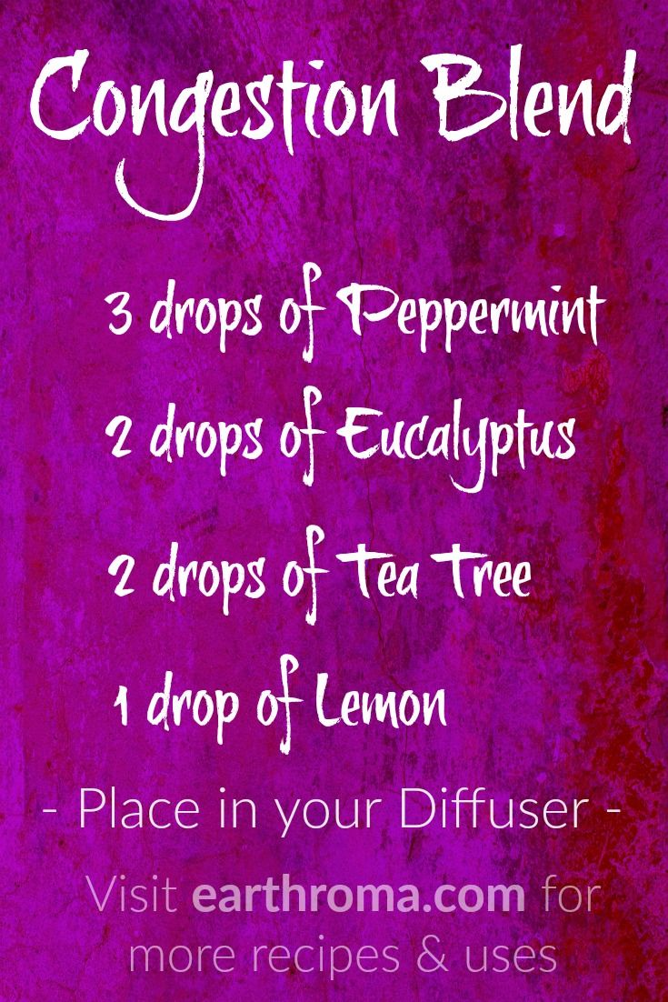 Congestion Essential oil Diffuser Blend