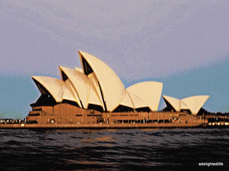 Opera house sails on Sydney harbour