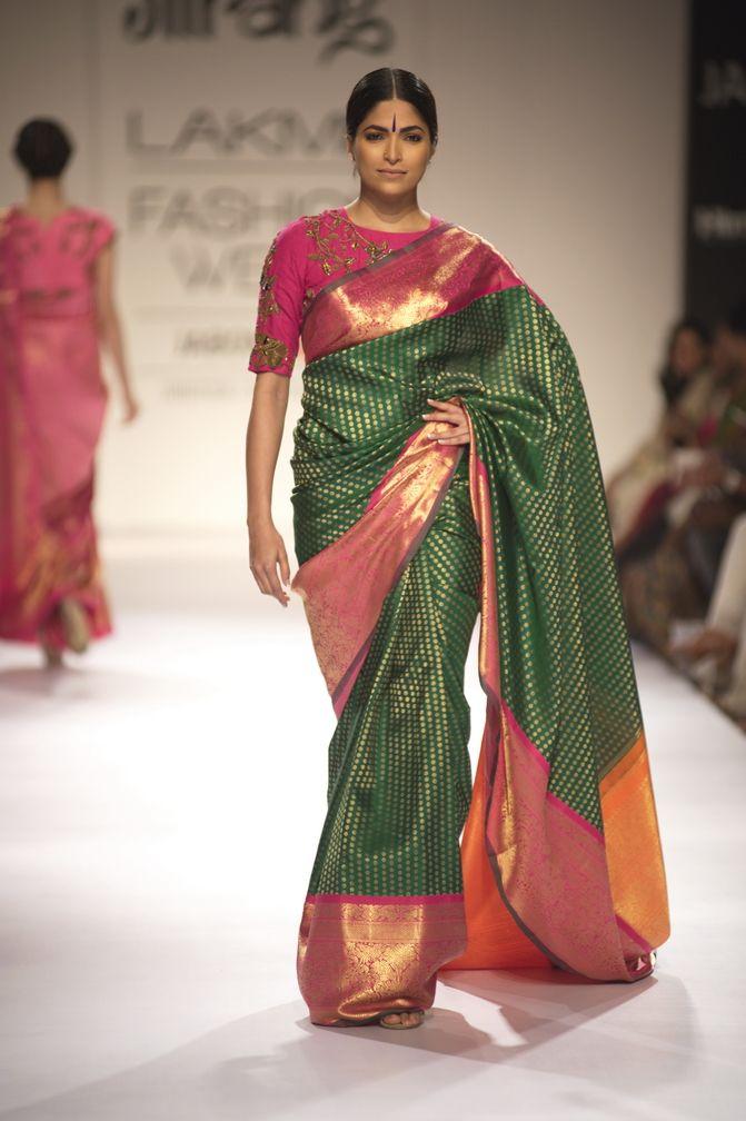 green kanjeevaram