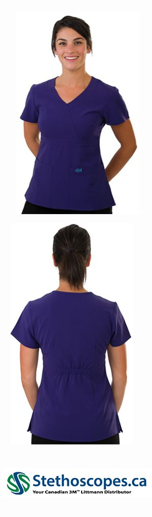 454 EXCEL 4-WAY STRETCH TOP Womens Scrubs - Purple