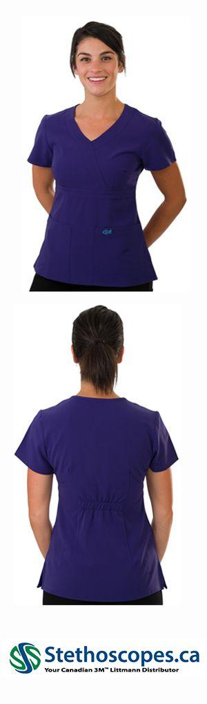 454 EXCEL 4-WAY STRETCH TOP Womens Scrubs - Purple