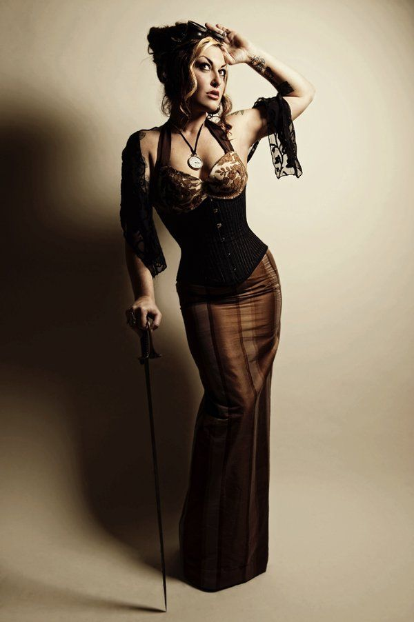 steampunk: Steampunk Fashion, Fashionsteampunk Style, Steampunk Princesses, Pretty Steampunk, Steam Punk, Pencil Skirts, Long Pencil Skirt, Steampunk Girls, Steampunk Outfits