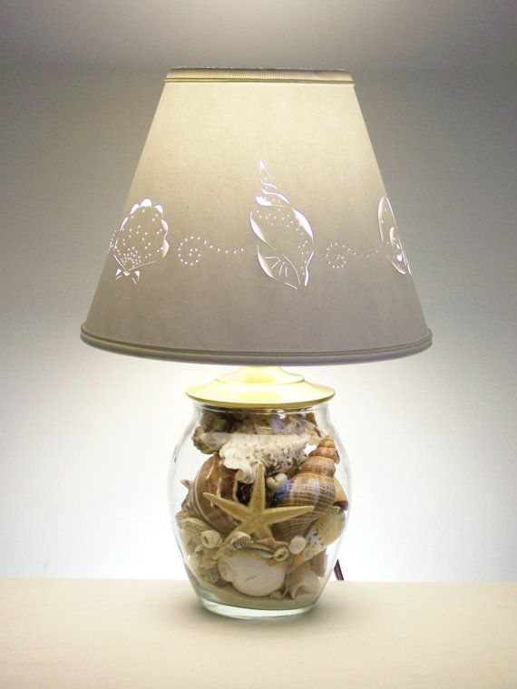 Small Seashell Lamp by barbaragailslamps on Etsy, $68.00