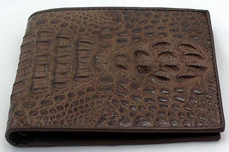 alligator wallet | Dark Brown Crocodile Wallets