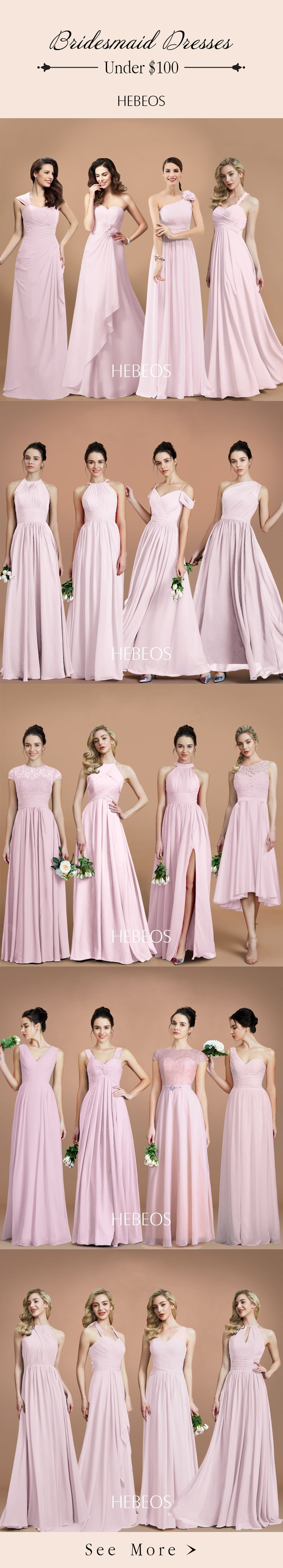 Searching for pink or coral bridesmaid dresses? Shop at HEBEOS.com  to find stunning coral colored bridesmaid dresses for under 100 in short, long & lace styles! #pinwedding #bridesmaid