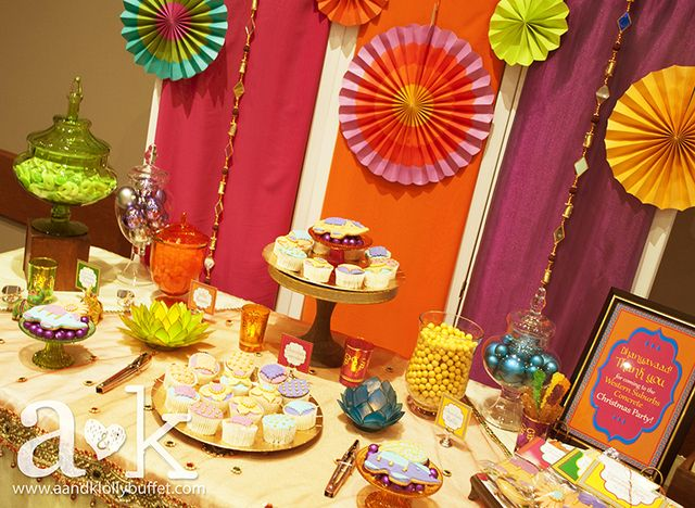 Bollywood Christmas party!  See more party ideas at CatchMyParty.com!  #partyideas #bollywood