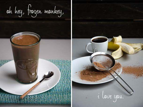 'Frozen Monkey' Coffee Chocolate Banana Smoothie recipe (Photo: Carolyn Cope)