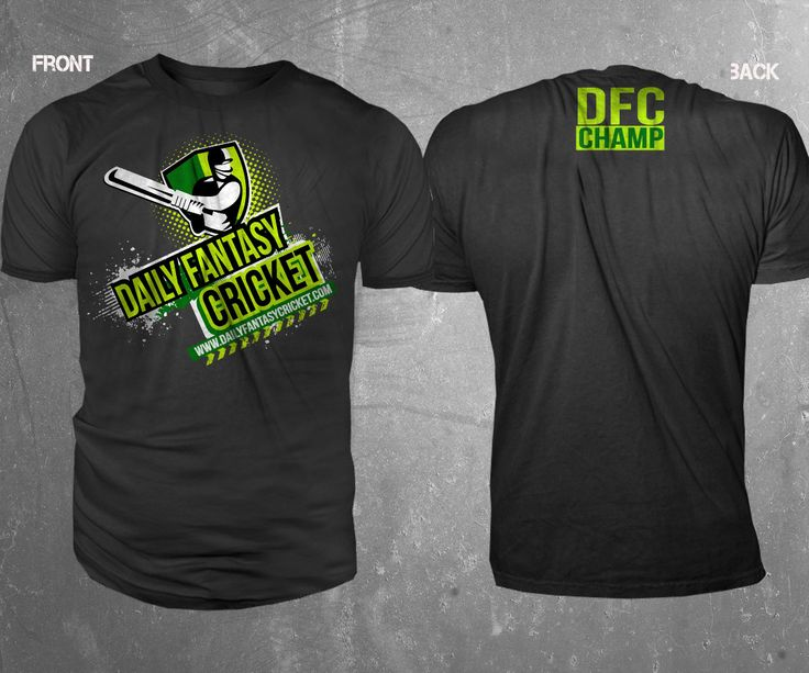 T-shirt Design by TRHZ for Daily Fantasy Cricket #cricket #T-Shirt #design #DesignCrowd #sport