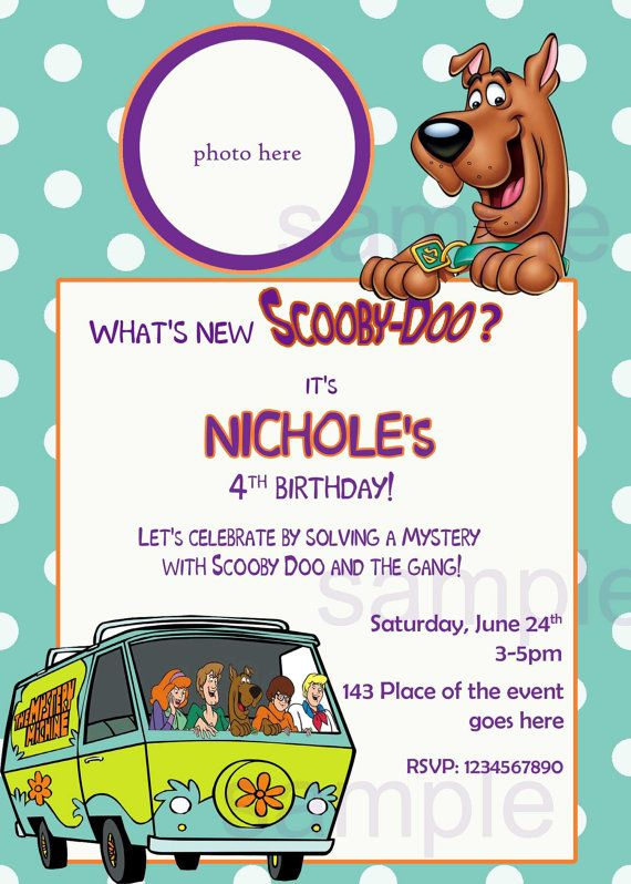 Print Scooby Doo Invitation orderecigsjuiceinfo – Scooby Doo Party Invitations