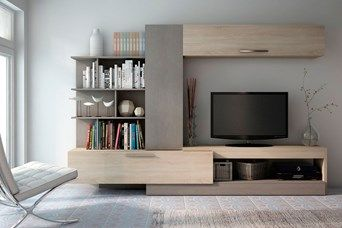 79 best images about casa salones on pinterest modern wall units entertainment units and. Black Bedroom Furniture Sets. Home Design Ideas