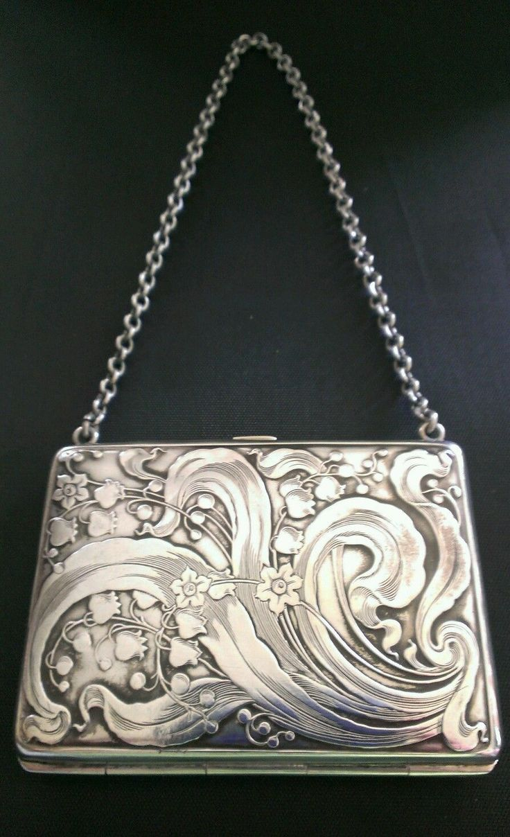 Art Nouveau Sterling Silver Purse