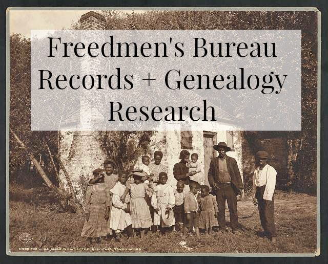 The Bureau of Refugees, Freedmen, and Abandoned Lands is often simply referred to as the Freedmen's Bureau. Often as genealogists, we are aware of the Freedmen's Bureau, but do not fully realize the potential it holds for our genealogy research. Let's take a closer look.