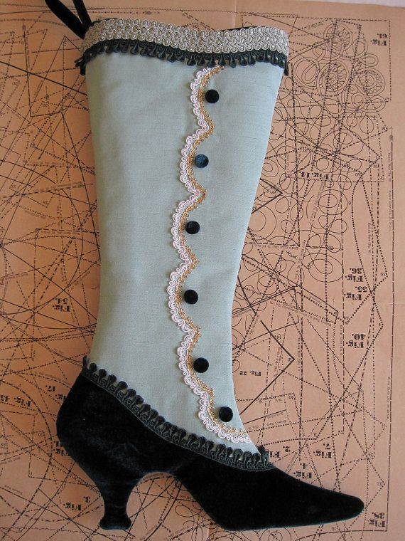 Victorian Christmas Stocking PDF Pattern...Lady by arkathwyn