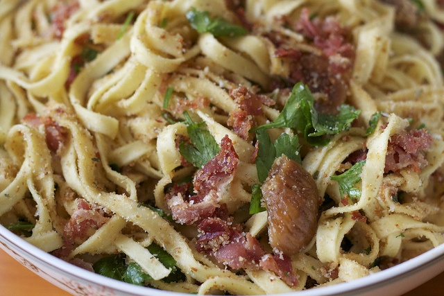 lemon fettuccine with figs and pancettaSassy Commentary, Lemon Fettuccine, Treats Recipe, Bacon, Figs, Delicious Food