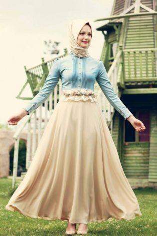 Bahar Elbise - Bej
