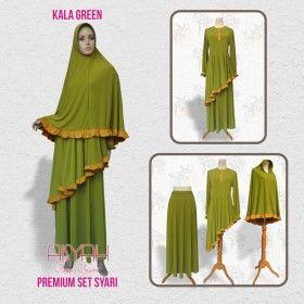 Busana Muslim - Syari Kala Green