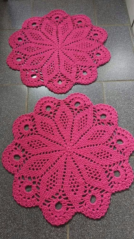 Faça e venda Lindos Sousplat em crochê - Jogos americanos | hector ...