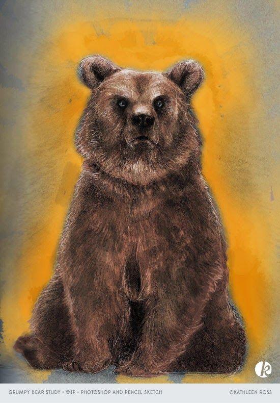 Bear Study - WIP  kathleenjr.blogspot.ca