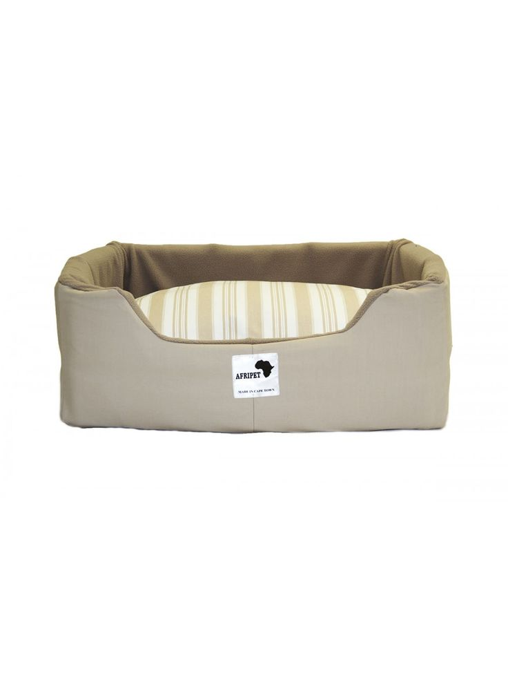 Afripet Rectangular Dog Bed in Stone