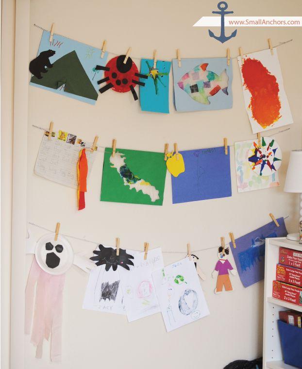 best 25+ hanging kids art ideas on pinterest | hanging kids