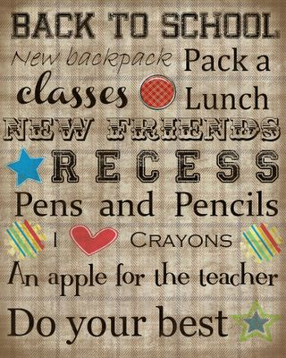 Sweetly Scrapped: Back to school subway art freebie printable