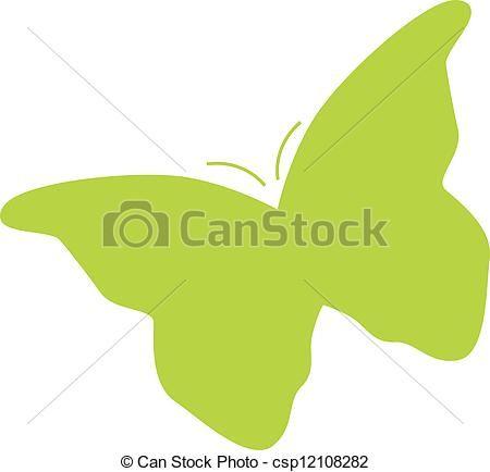 Vector de silueta, mariposa csp12108282 - Buscar Clipart ...