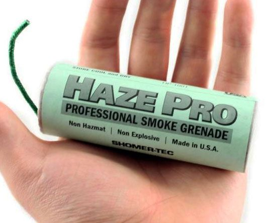 Tactical Smoke Grenade -- Train for a essential holocaust by recreating a few disorganized conditionsusing the diplomatic smoke grenade. This experienced category grenade is the same sympathetic used in movies, and is work out to drain out a massive 40,000 cubic feet of smoke.