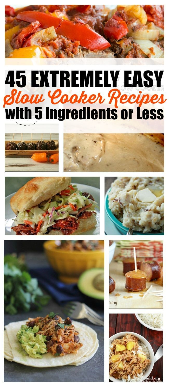 This is exactly what I need! Big list of 5 ingredient slow cooker recipes!