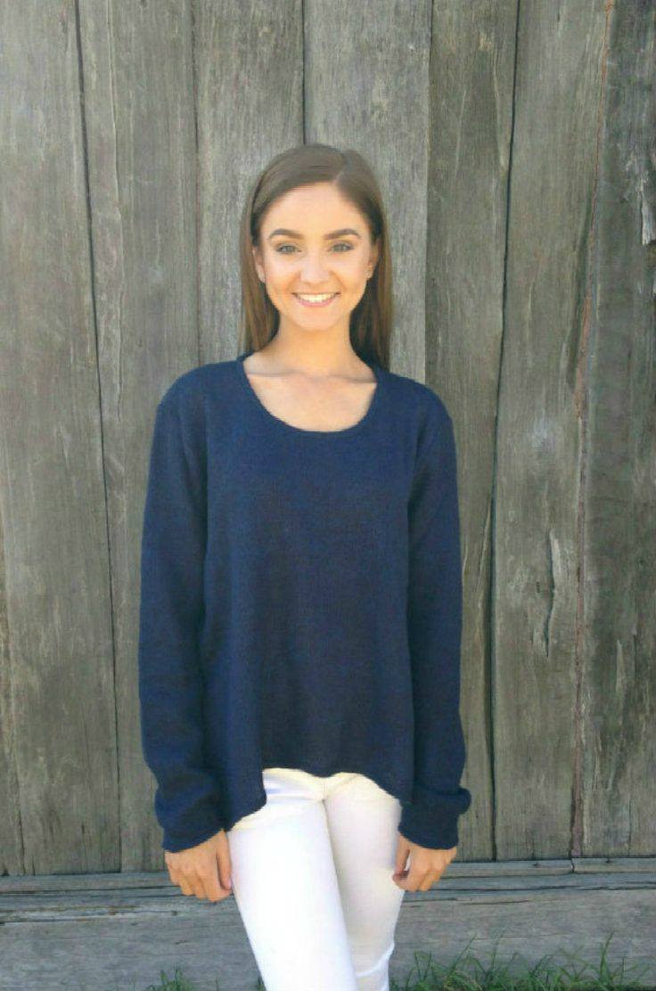 Conchita Feelin Cosy Sweater Navy Knit - Sacs On Jenkins