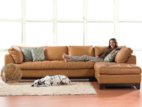 small leather sectional sofa brown
