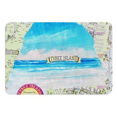 East Urban Home Tybee Island by Rosie Brown Bath Mat