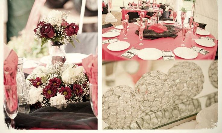 #wedding #country #wood #hay #bales #love #décor #event #dam #wedding #table #decor #red #black #roses www.jades.co.za/