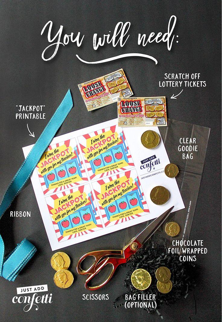 Lottery ticket teacher appreciation gift idea and
