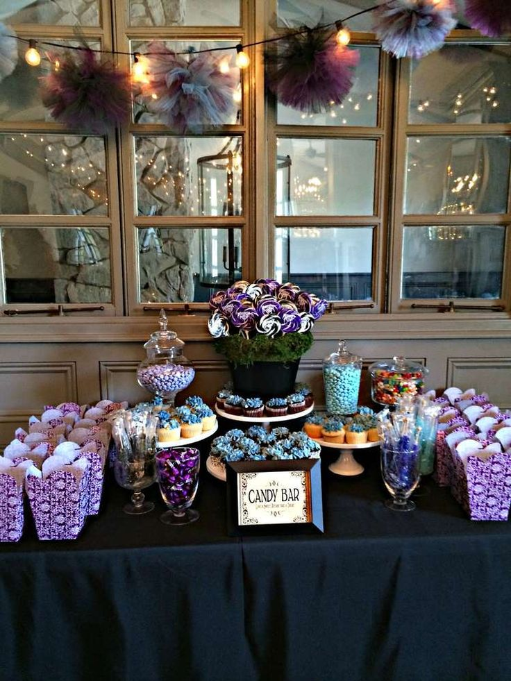 Black White Purple Amp Blue Bridal Wedding Shower Party