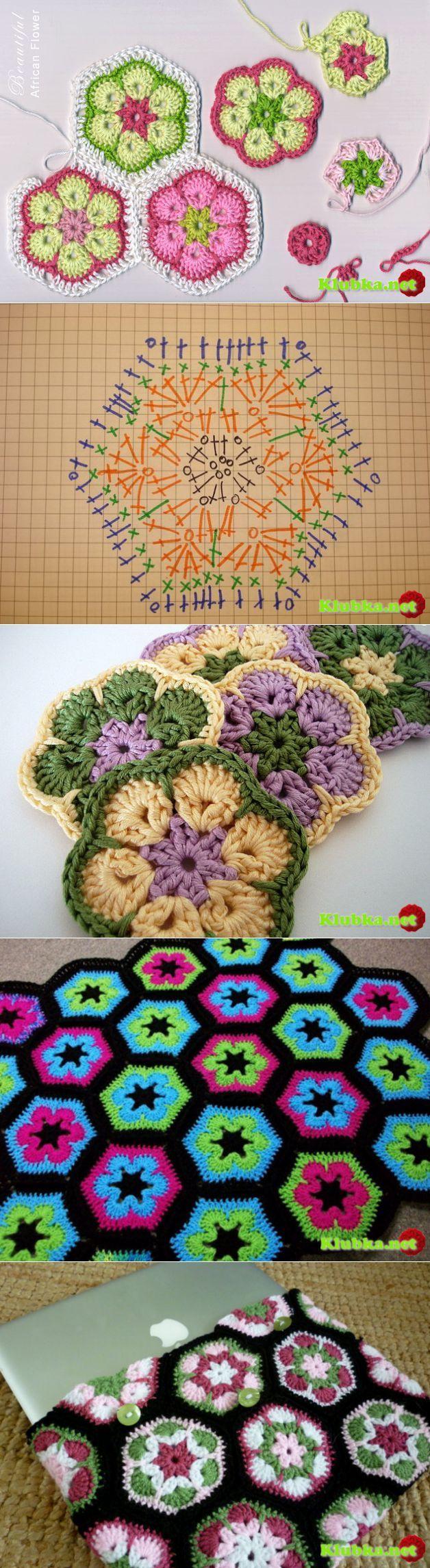 Как связать африканский цветок.   Вязание   Постила