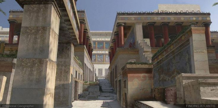 Digital reconstruction of the Minoan palace of Knossos