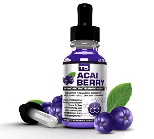 T5 Fat Burners Acai Berry Diet Drops : Maximum Strength Antioxidant Fat Burner -...