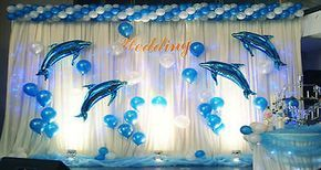 Blue / Pink Dolphin Balloon Birthday Wedding Party Helium Decoration