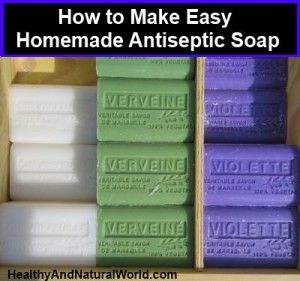 How to Make Easy Homemade Antiseptic Soap. This is an easy to make antiseptic soap that makes a fantastic hand wash because it contains tea tree and thyme essential oils, that have anti fungal and anti bacterial properties. It is also excellent to treat or prevent fungal infections like vaginal yeast infections, athlete's foot, and ringworm. So why don't you give it a try and make your own antiseptic soap? You can buy soap moulds online and they come in various shapes and sizes such as