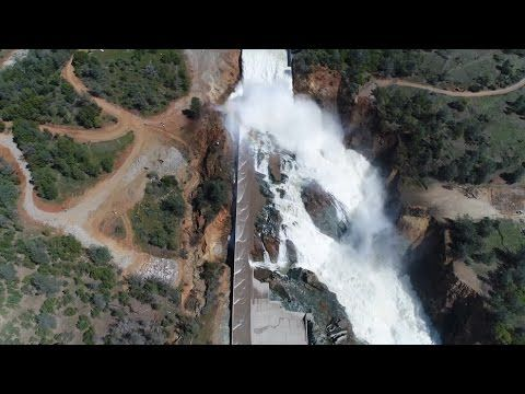 Oroville Dam UPDATE 3/18/2017 8:46  pm talk about the Spillway Weather